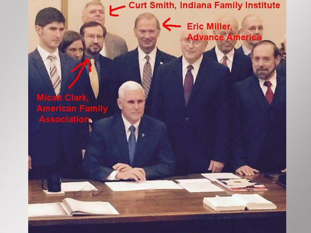 Does Signing Photo Show Pence's True Intent?