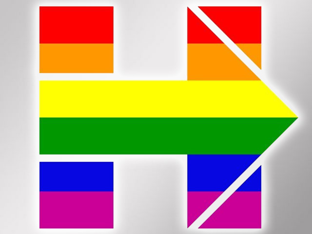 Clinton Logo Goes Rainbow For Same-Sex Marriage Arguments