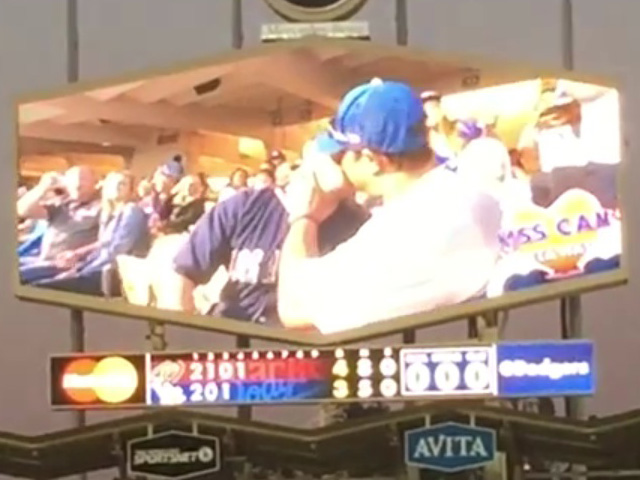 Same-Sex Kiss on Dodgers Stadium's Kiss Cam Goes Viral