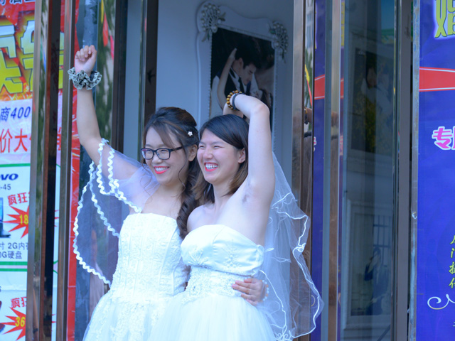 China: Lesbian Couple Ties Knot in Push for Same-Sex Marriage