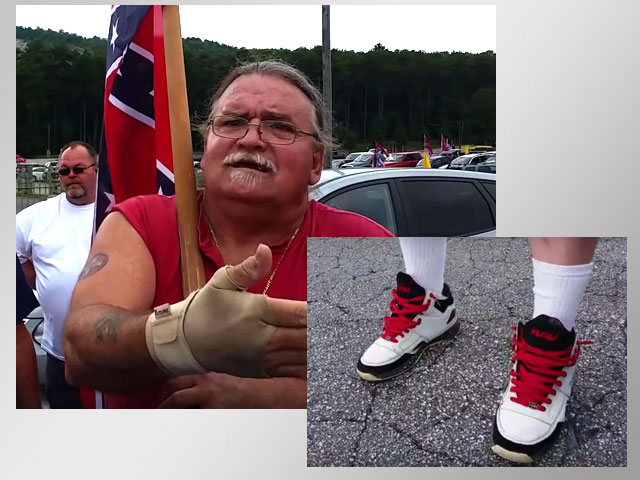 Dimwitted KKK-Follower Caught Wearing Hip-Hop Brand Shoes