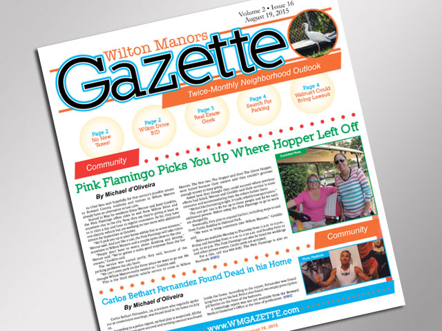 Wilton Maors Gazette August 19, 2015