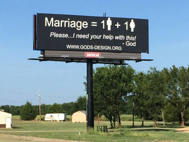 Christian Couple Wants to Put 1,000 Anti-Gay Billboards Around the Country