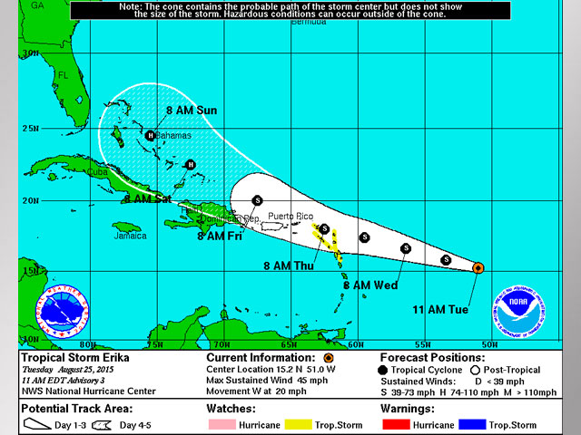 National Hurricane Center: Tropical Storm Erika