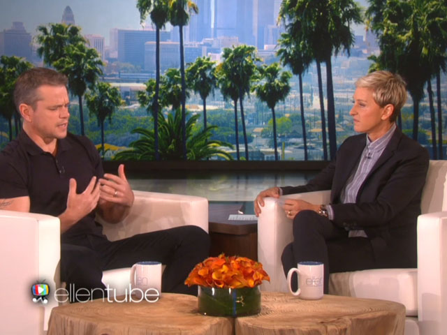 Matt Damon Explains Gay Actor Comments to Ellen DeGeneres