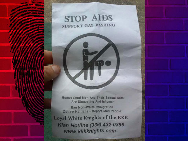 KKK Spreads Pamphlets in Fla.: 'Support Gay Bashing' to 'Stop AIDS'