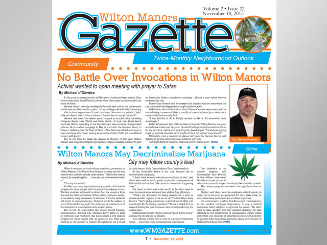 Wilton Manors Gazette: November 18, 2015