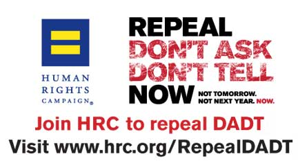 Join HRC in Repealing Don't Ask Don't Tell