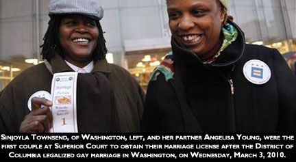 1st DC Gay Marriage Couple