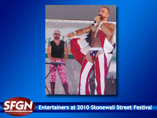 Entertainers at 2010 Stonewall Street Festival