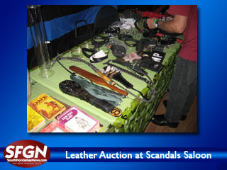 Leather Auction at Scandals Saloon, Wilton Manors