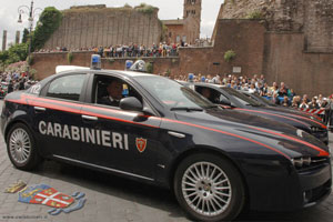 A car used by the Carabinieri, the Italian military police