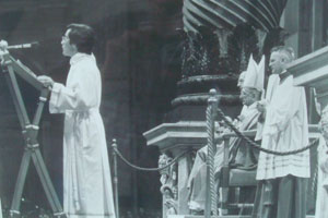 Tony Adams speaks at a papal Mass in Saint Peter's basilica while Pope Paul VI listens. Photo supplied by Tony Adams