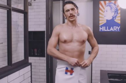 Almost-Naked James Franco Endorses Clinton in New Ad