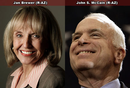 Jan Brewer & John McCain of Arizona